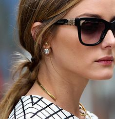 Gold and Pearl Dior Tribal Earring