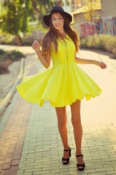 Magnificent Bright Yellow Dress