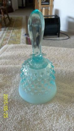 """FENTON BLUE OPALESCENT HOBNAIL 5"""" BELL PLUS FREE SHIPPING"""