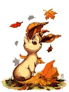 Leafeon by Stormful on deviantART I love pokemon sesonal art