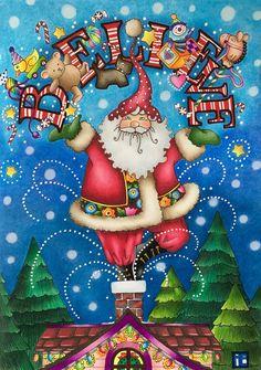 Believe! Libro: Mary Engelbreit's Color me christmas ❄️❤️ Hecho con prismacolor premier stabilo 88 y plumas de gel. Mary Christmas, Christmas Scenes, Father Christmas, Christmas Pictures, All Things Christmas, Vintage Christmas, Christmas Holidays, Christmas Crafts, Xmas