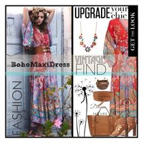 """""""Boho Maxi Dress"""" by polyvore-suzyq ❤ liked on Polyvore featuring WALL, West Coast Jewelry, MICHAEL Michael Kors, Delicious and Pavcus Designs"""