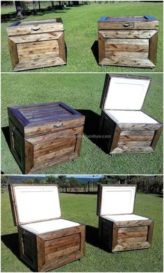 recycled pallets wooden coolers