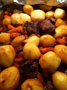 Portuguese meat and potatoes More