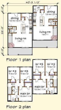 plan 67718mg: duplex house plan for the small narrow lot | the