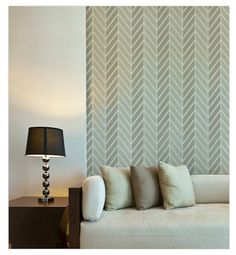 East Coast Creative: Colorful Stenciled Accent Wall {Knock It Off}.  Love this stencil...... maybe for inside the master closet?  It's not too feminine - so hubby would approve  ;)