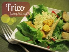 Top your soup or salad with frico (crunchy cheese crisps.) SO easy!
