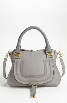Main Image - Chloé 'Medium Marcie' Leather Satchel in grey