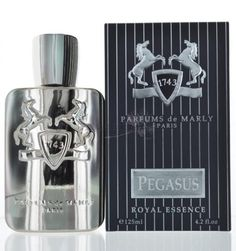 Parfums De Marly Pegasus by Parfums De Marly for MenEau de Parfum 4.2 oz 125 ml spray  Parfums De Marly Pegasus for Men. Fragrance notes are bergamot, heliotrope and cumin. Heart: jasmine, bitter almond and lavender. Base: amber, vanilla and sandalwood.  Buy @ www.peraroma.com