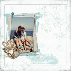 """""""Don By the Sea"""" digital scrapbook layout by Jan Ransley"""
