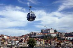 In Porto, a great way to see the Port wine area in Vila Nova de Gaia is to take the cable car from the top of the town to Cais de Gaia, on the river bank. Automobile, Port Wine, River Bank, Portugal Travel, Holiday Travel, Seattle Skyline, Adventure, Vacation, Car