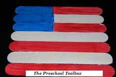 Fourth of July Craft Stick Flag Puzzles by thepreschooltoolboxblog #Kids #Crafts #Puzzle #Flag