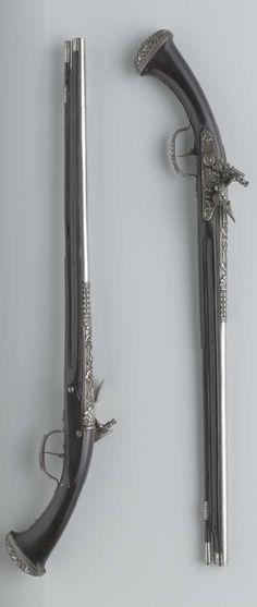 Pair of flintlock pistols, 1645 - 1650