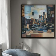 Madison Park Urban Street At High Noon Framed Canvas Wall Art, Multicolor