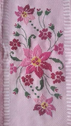 Cross Stitch, Samsung, Embroidery, Floral, Cute Cross Stitch, Cross Stitch Flowers, Face Towel, Crochet Tablecloth, Crochet Doilies