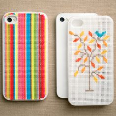 This iPhone case is a crafty DIY that gives you the freedom to create any pattern you want! (via fossilblog)