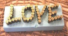 Bullet Casing Word Art by Reinspiredme on Etsy, $32.95