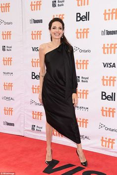Angelina Jolie is a bombshell in black at TIFF | Daily Mail Online