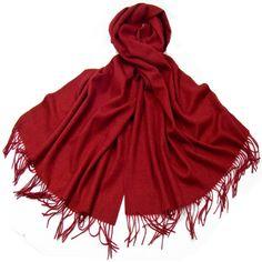 Etole rouge bordeaux en laine - Etole/Etole laine - Mes Echarpes