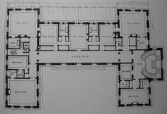 Rosecliff, plan of second floor