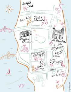 Palm Beach Map Print