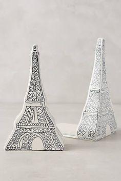 Anthropologie Paris Eiffel Tower bookends