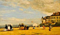 Eugene Boudin - The Beach at Trouville, 1864 at the Virginia Museum of Fine Arts (VMFA) Richmond VA