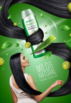 Natural & Mild Hair Shampoo on Behance