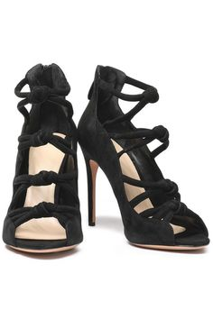 Knotted suede sandals   ALEXANDRE BIRMAN   Sale up to 70% off   THE OUTNET