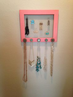 Shabby Chic Coral Jewelry Frame on Etsy, $75.00