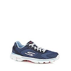 cc533a05bd Skechers - Navy  Go Walk 3  lace up trainers Lace Up Trainers