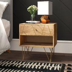 Mercury Row Marigold 1 Drawer Solid Wood Nightstand & Reviews | Wayfair