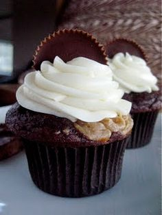 Peanut Butter Filled Cupcakes