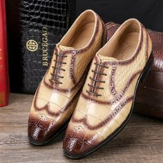 Responsible Mens Genuine Leather Gentleman Dress Shoes Loafers Derby Cowhide Leather Crocodile Embossed Skin Wedding Business Shoes 2018 Shoes