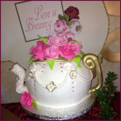 tea party bridal shower party cake see more party ideas at catchmypartycom