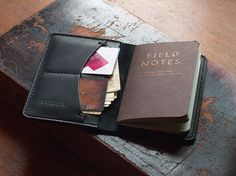 Field Notes Cover Wallet Black Leather