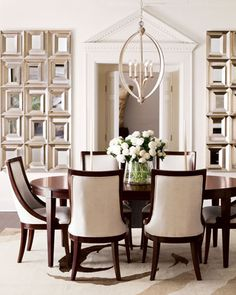 """Allerton"" Dining Furniture at Horchow. Breakfast Room?  Table and 4 chairs."