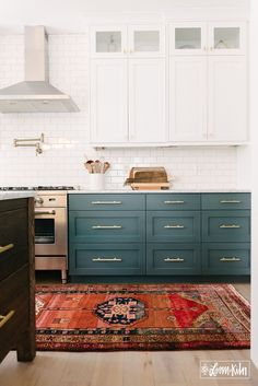 Kitchen styled by Loom + Kiln Interior Natural, Block Island, Diy Home Decor, Kitchen Cabinets, Design Ideas, Home, Architecture, Kitchen Cabinetry, Kitchen Base Cabinets