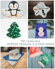JÁTÉKOS TANULÁS 2-6 ÉVES KORIG SZÓRAKOZTATÓ ÉS FEJLESZTŐ KREATÍV DOBOZOK ÓVODÁSOKNAK  TÉLI VARÁZS KIS MŰVÉSZEKNEK Christmas Ornaments, Holiday Decor, Home Decor, Decoration Home, Room Decor, Christmas Jewelry, Christmas Decorations, Home Interior Design, Christmas Decor