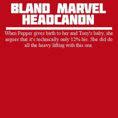Bland Marvel Headcanons. I'm not usually into these, but this one made me LOL so…