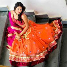 Shefali Couture Orange and pink lehnga shefu_patel@hotmail.com