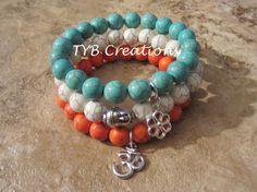 Turquoise Buddha Bracelet Set by TYBCreations on Etsy, $25.00
