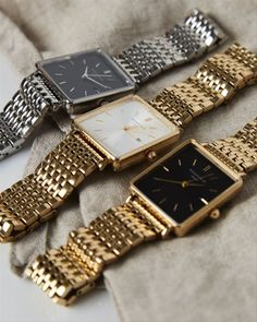 The Boxy White Gold - watches women - Swiss Army Watches, Beautiful Watches, Watch Brands, Luxury Watches, Cool Watches, Cheap Watches, Quartz Watch, Fashion Watches, Bracelet Watch