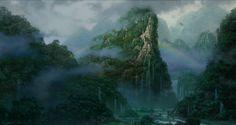 Resultado de imagen para environment artwork jungle fog
