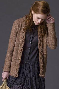 Rosewood Cardigan in Tahki Yarns Tara Tweed