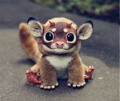 Realistic Handmade Fantasy Creature Dolls by Young Artist Santani