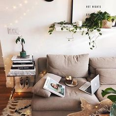 Current Office Space - There's no better feeling than working from my couch ✨ Loving the new addition to my living room, how cute is this little green pot from @maisonnumen? ✨You should check out there new Spring Collection, they have lots of cool and fun stuff for your home. Happy Tuesday and happy shopping! #objectswithmeaning #maisonnumen #ad