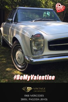 Meet Heidi, she loves long drives in the country cruising with the right man to take her places she has never been...   1968 Mercedes Benz 280SL Pagoda  #BeMyValentine #ClassicCars #VintageCars #Mercedes #ValentinesDay