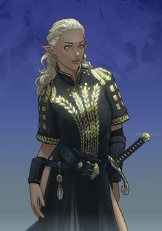 Commission Kiriah by Spacefriend-T on DeviantArt Female Character Concept, Fantasy Character Design, Character Design Inspiration, Character Creation, Character Art, Character Ideas, Fantasy Races, Fantasy Rpg, Fantasy Girl