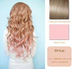 Vpfashion Customized Hair Extensions in 2014 Trendy Hair Colors light ash brown and pastel pink ombre hair colors and wavy hair styles